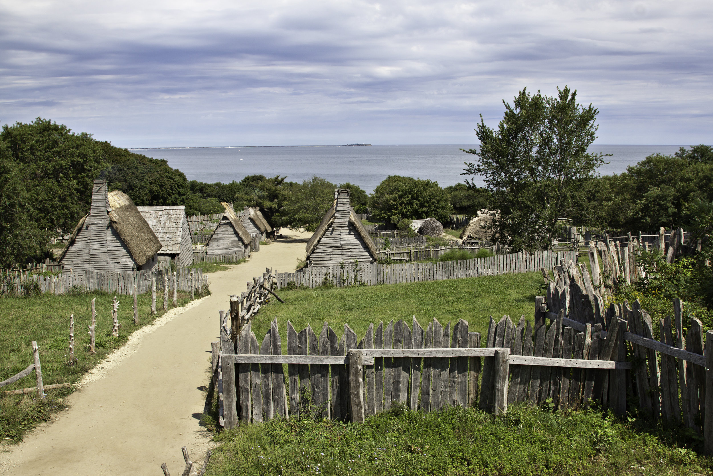 Today you can visit a replica of the Pilgrim's village at Plymouth, MA.