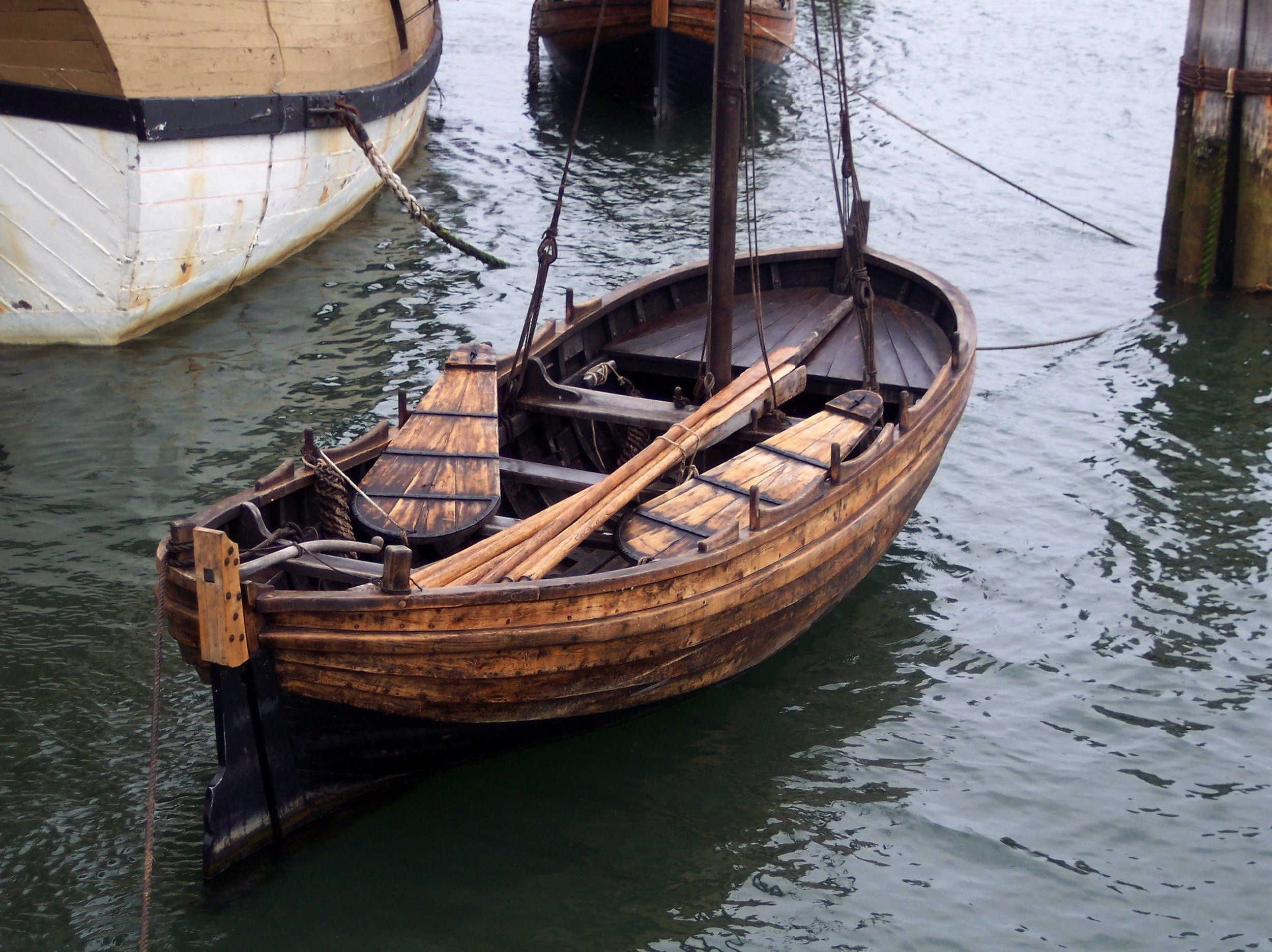 A shallop was a small boat attached to The Mayflower. It was used for exploring and traveling back and forth from the ship.