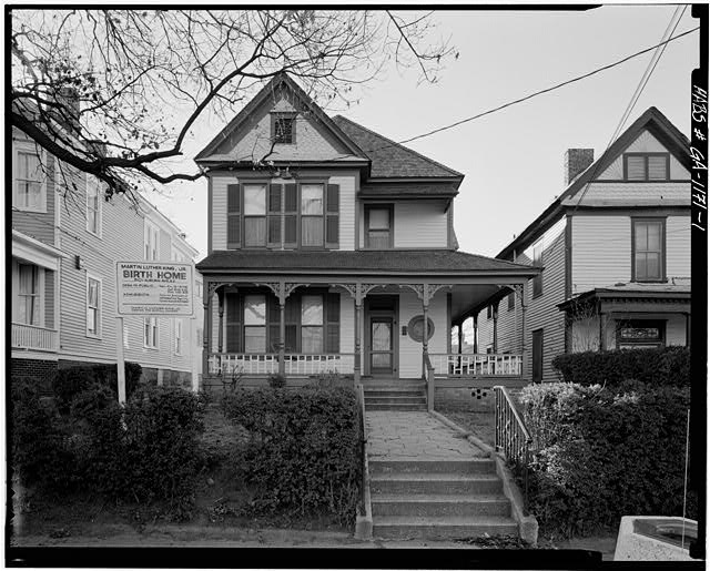 The house Martin Luther King, Jr. was born in in Atlanta, Georgia. Courtesy of the Library of Congress