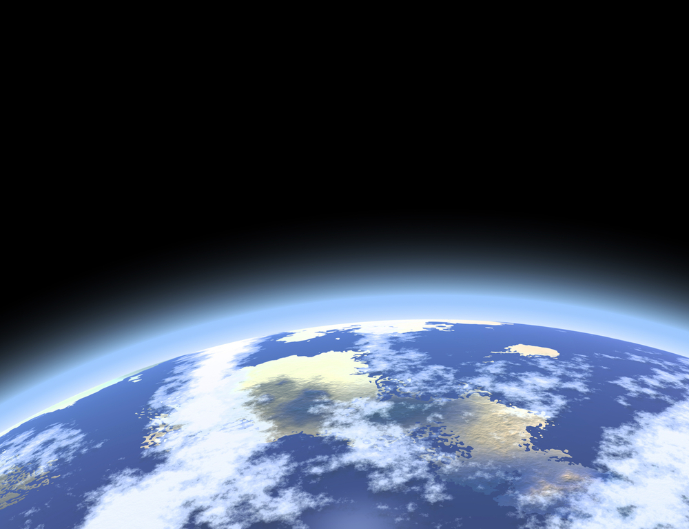 Earth's atmosphere as seen from space.