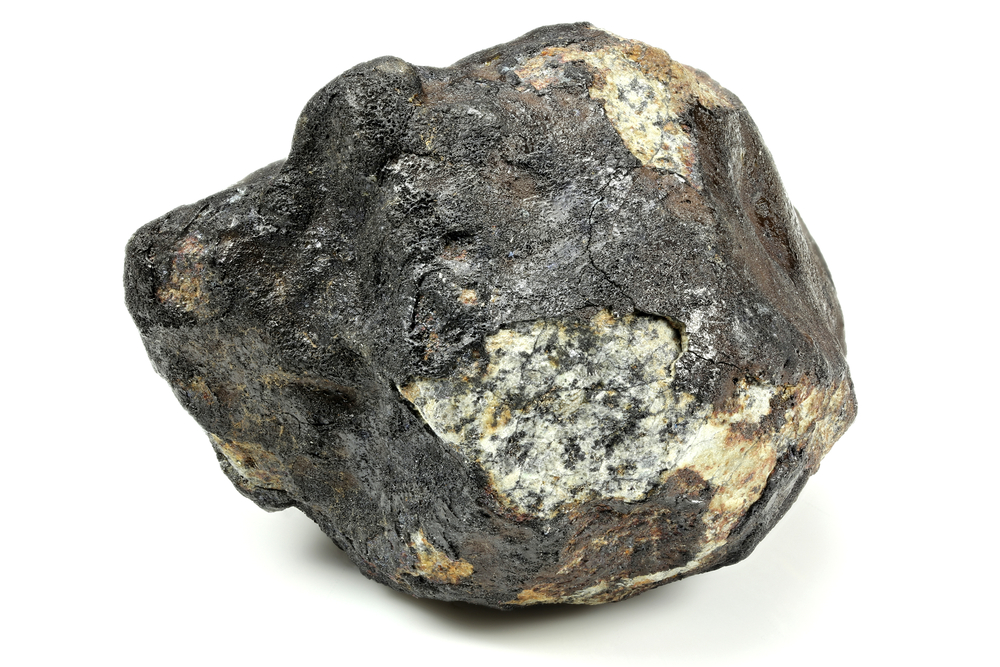 Part of a meteorite that passed through the mesosphere and landed on Earth.