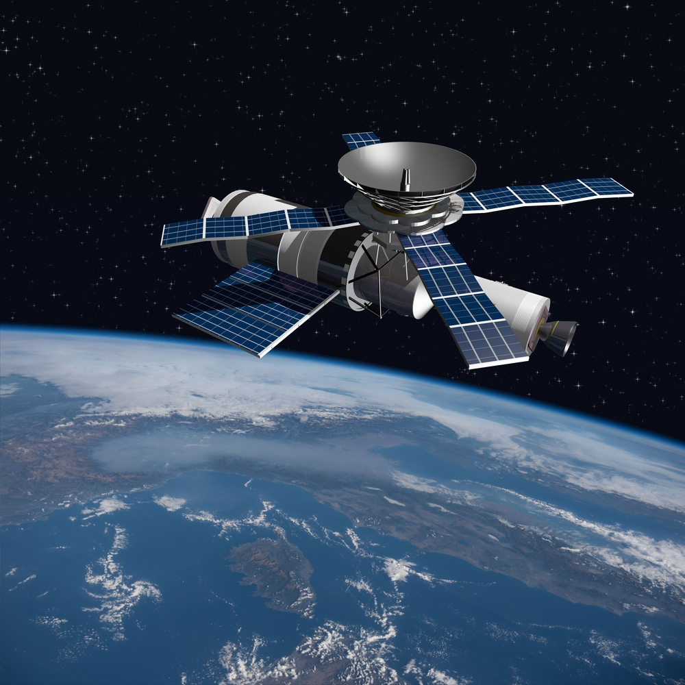 Satellites and the International Space Station orbit the Earth within the thermosphere.
