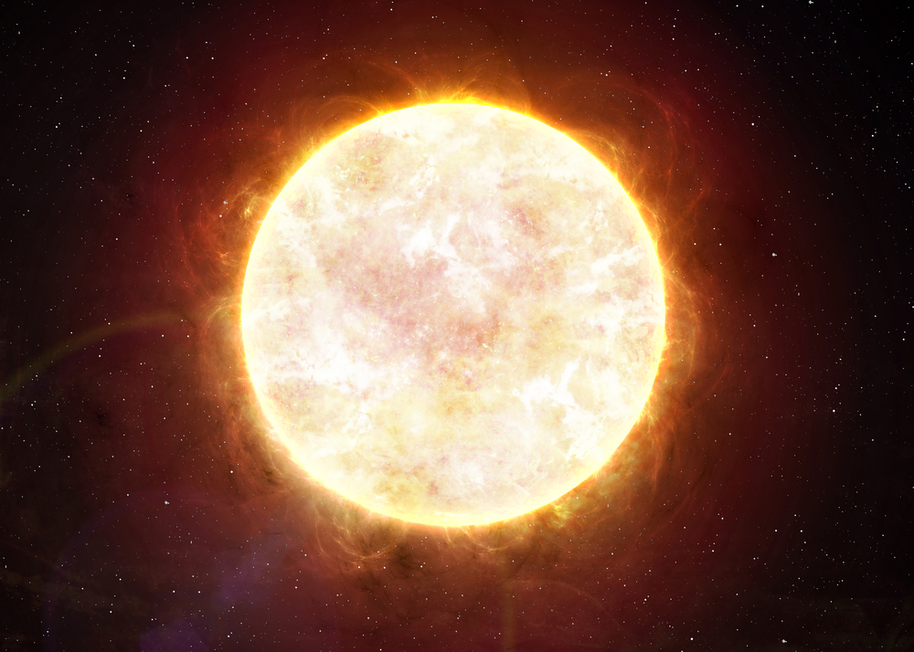 The Sun heats up the air particles in the thermosphere.