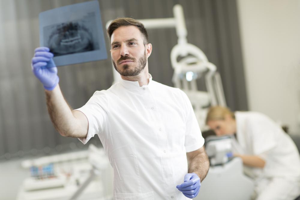 Dentists use x-rays to examine teeth.