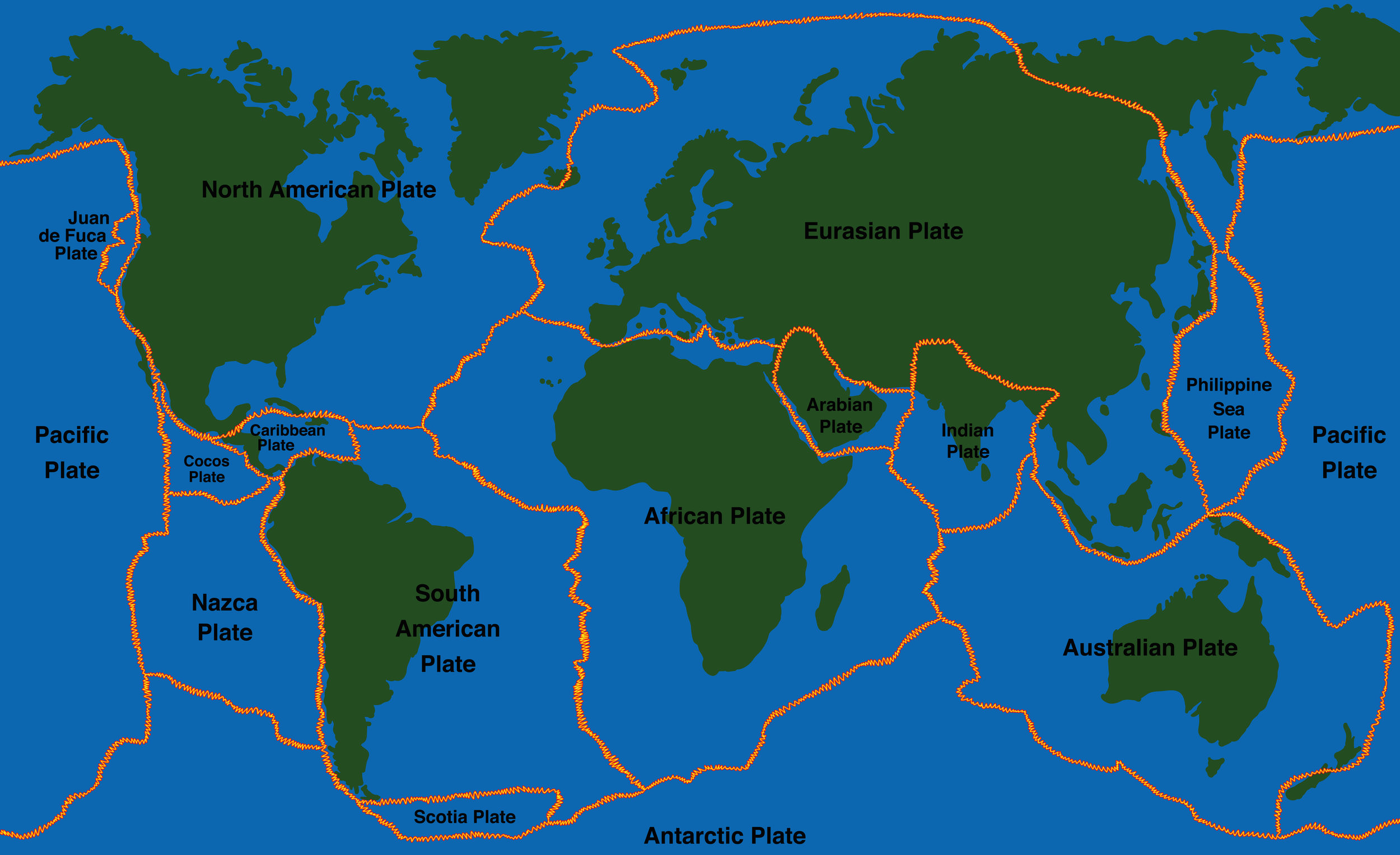 The surface of the Earth is not smooth. The crust of the Earth is made up of plates that are like puzzle pieces.