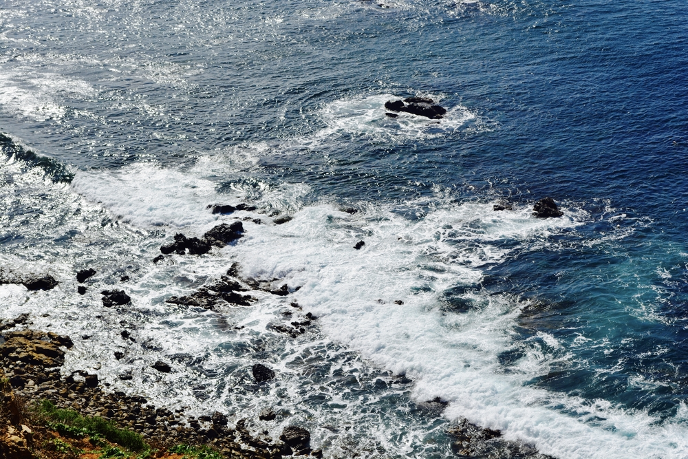 Abrasion can also happen when ocean waves continually wash across rocks along the shore.