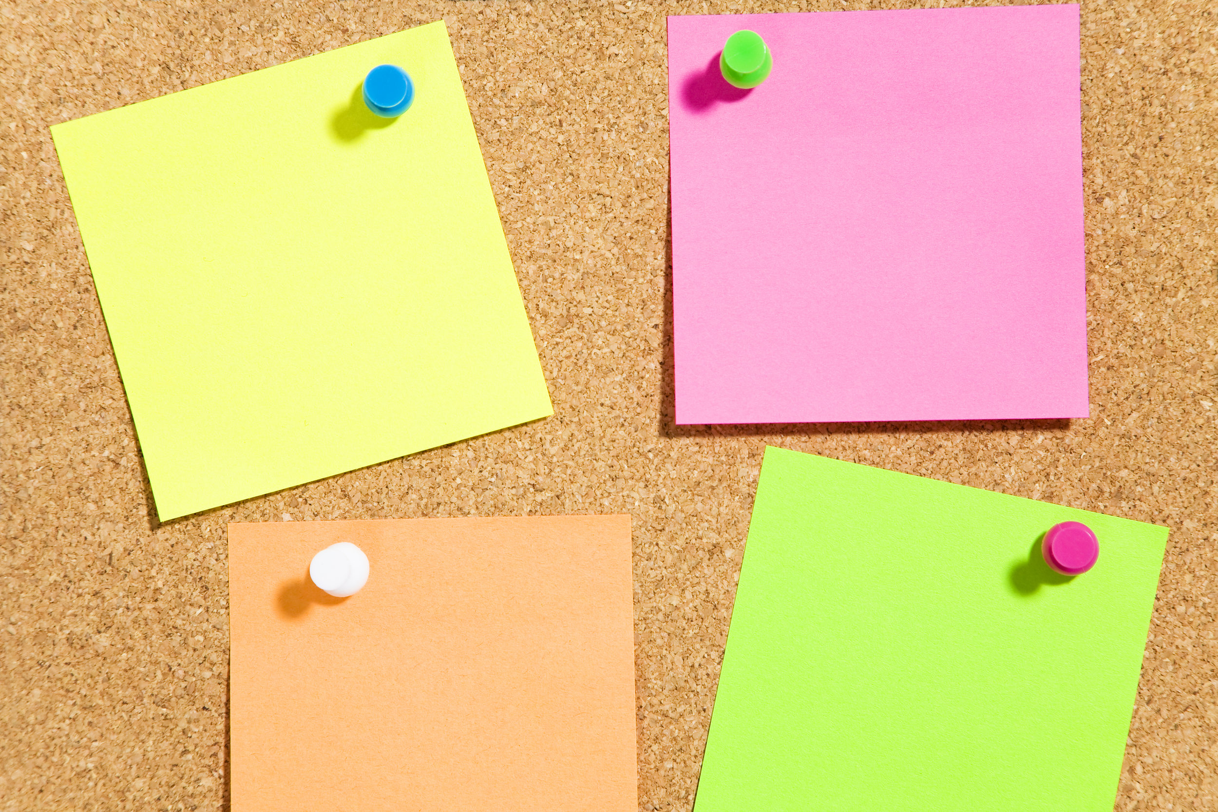 Keep black Post-its or other cards where you can see them to remind yourself to write positive notes home.