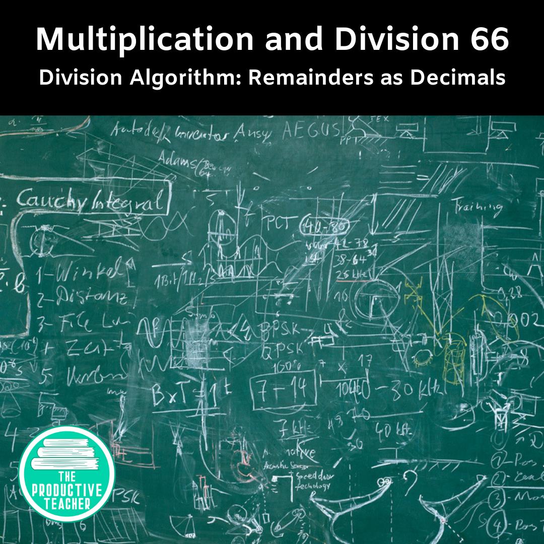 Division Algorithm: Remainders as Decimals
