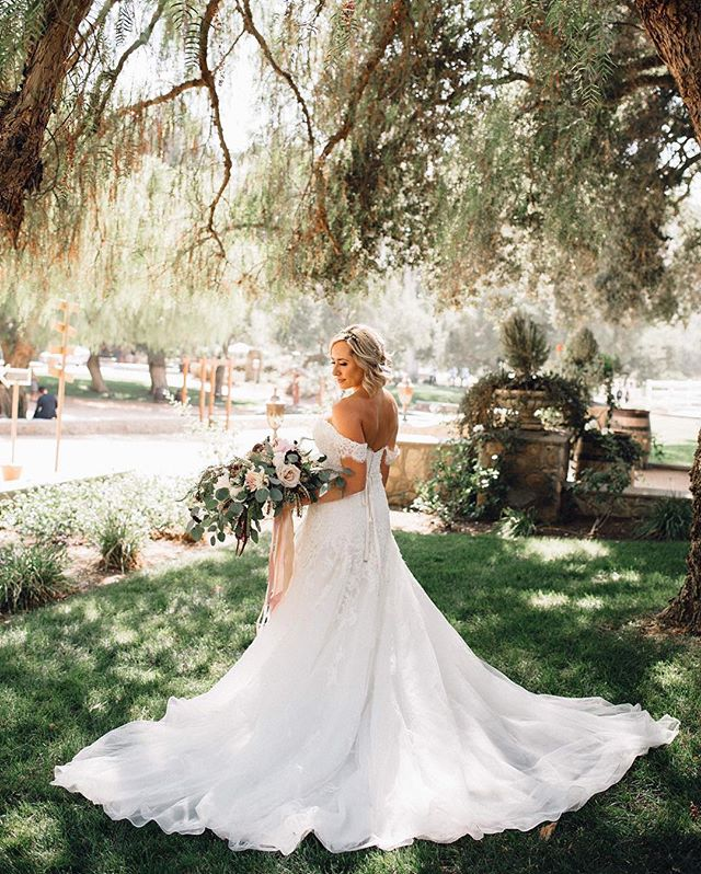 """This girl...this dress...this bouquet...gives me ALL the feels!!!! """"Isn't she lovely...""""🎶 Venue: @giraccivineyards  Photography: @kaalonweddings  Floral Design: @bloomingearthandivy  Make up: @crystal.goldenglowbeauty  Coordination: @poshitivelyperfectevents"""
