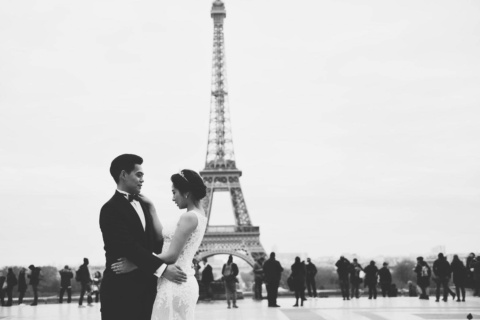 PUREFOTO_海外婚紗攝影Oversea_Prewedding_巴黎鐵塔婚紗