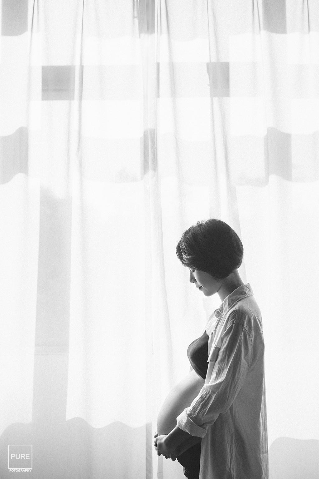 PUREFOTO_台灣孕婦攝影Pregnant_孕婦寫真剪影