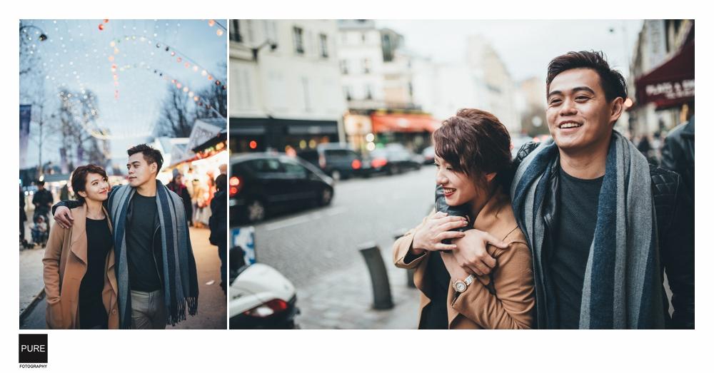 PUREFOTO_海外婚紗攝影Oversea_Prewedding_巴黎聖誕市集街景婚紗拍攝
