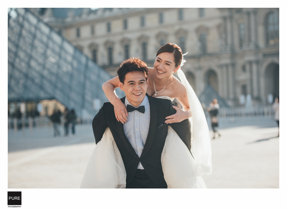 PUREFOTO_海外婚紗攝影Oversea_Prewedding_羅浮宮巴黎婚紗拍攝