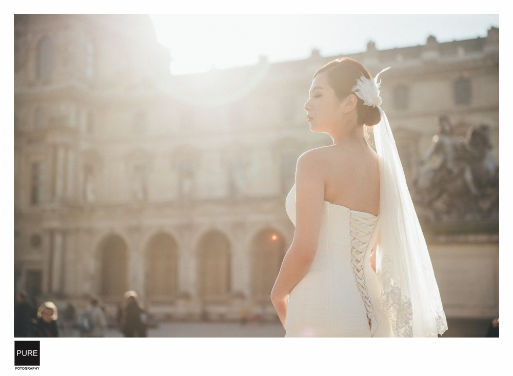 PUREFOTO_海外婚紗攝影Oversea_Prewedding_巴黎羅浮宮婚紗