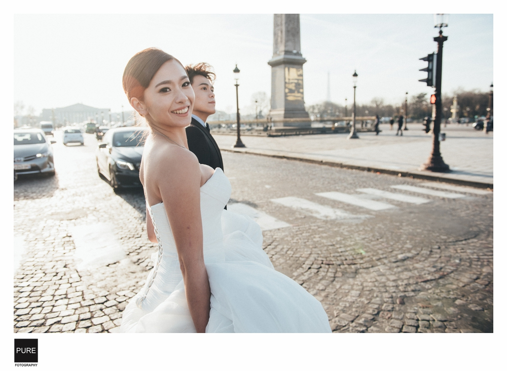 PUREFOTO_海外婚紗攝影Oversea_Prewedding_巴黎街景婚紗攝影