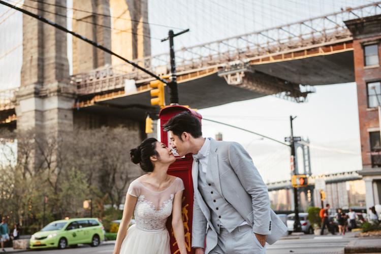 PUREFOTO_海外婚紗攝影Oversea_Prewedding_紐約海外婚紗,布魯克林大橋,海外婚紗