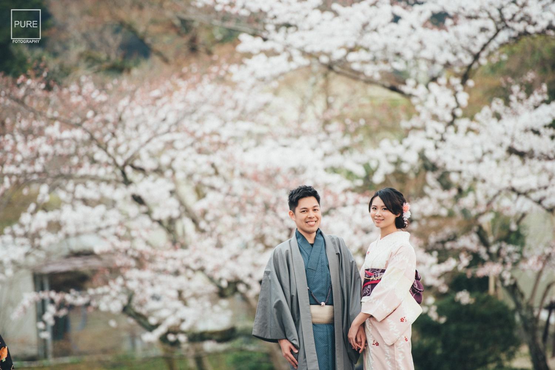2018海外婚紗,櫻花和服寫真