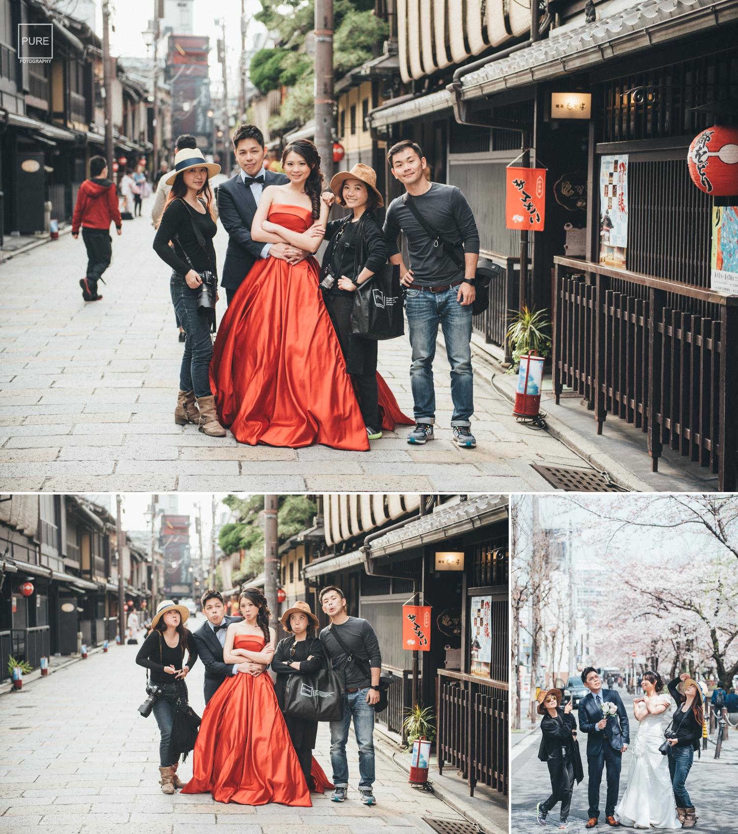 海外婚紗收工大合照,purefoto