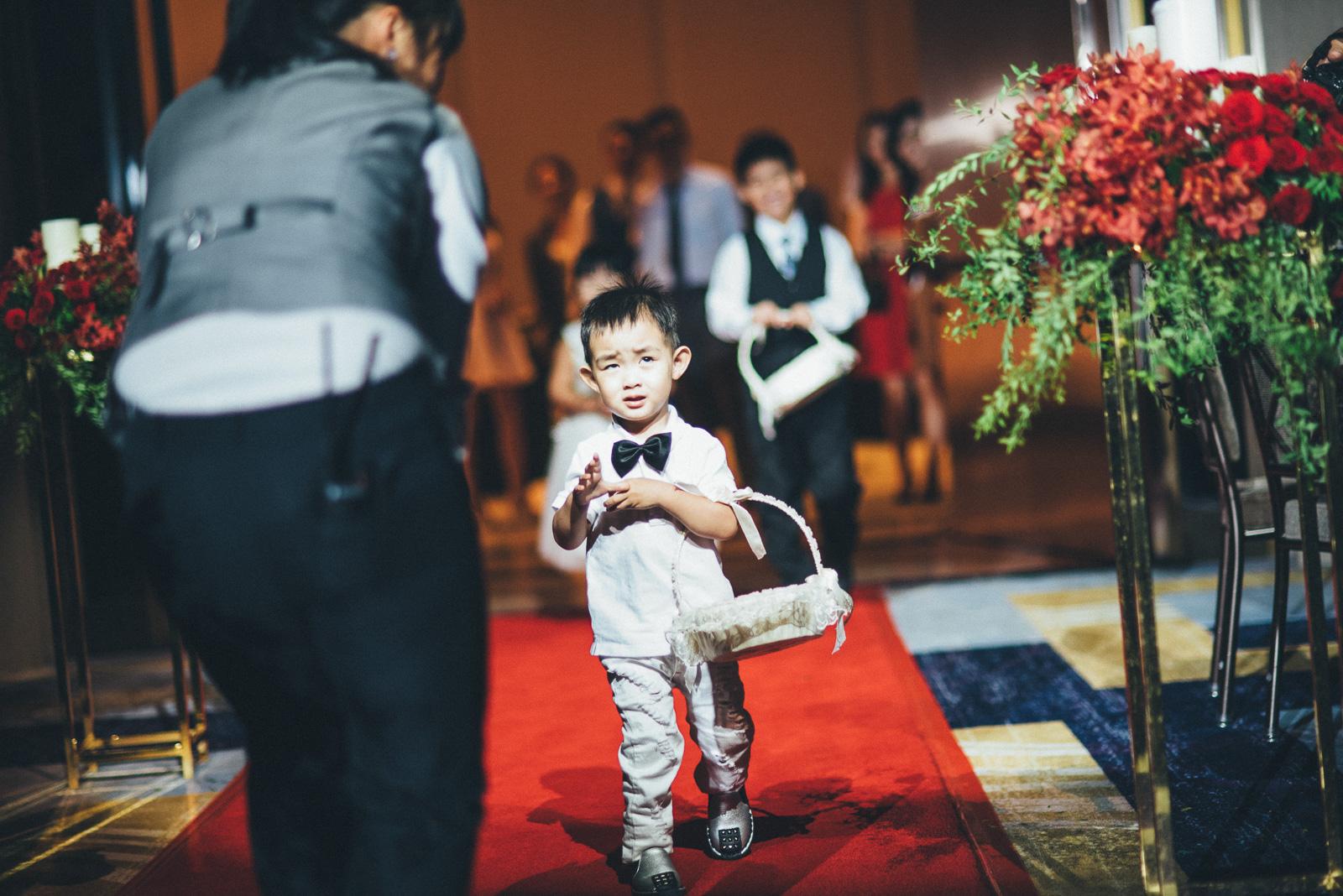 婚禮攝影花童進場