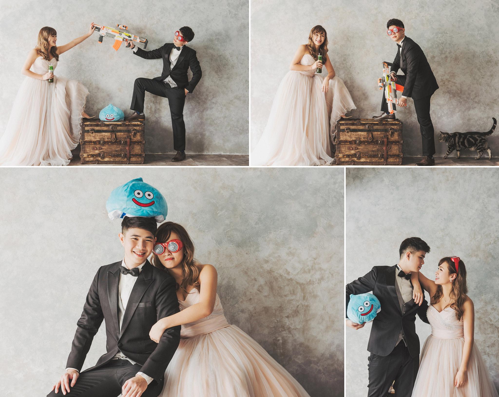 空氣槍,道具,婚紗