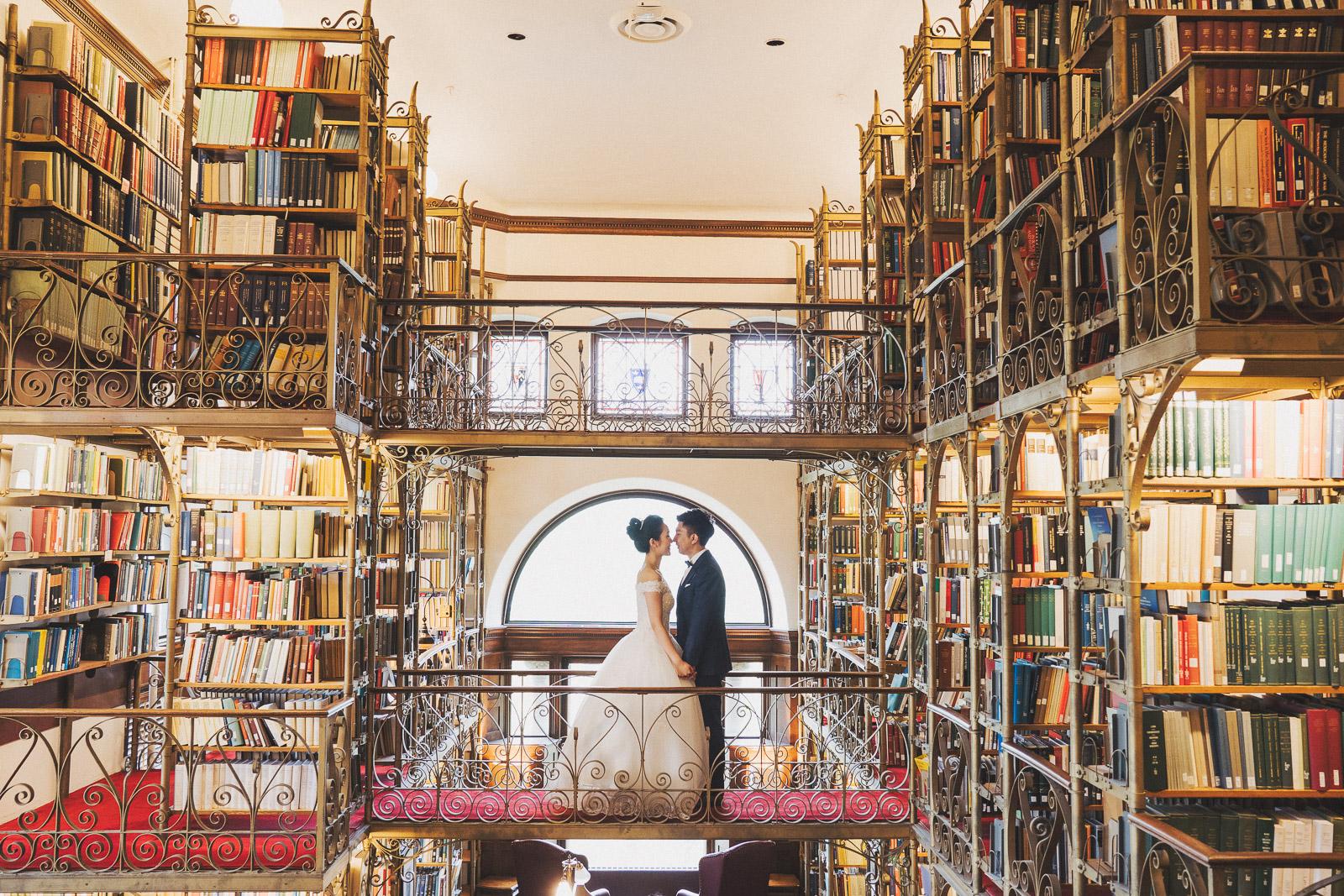 康乃爾校園婚紗_圖書館婚紗拍攝