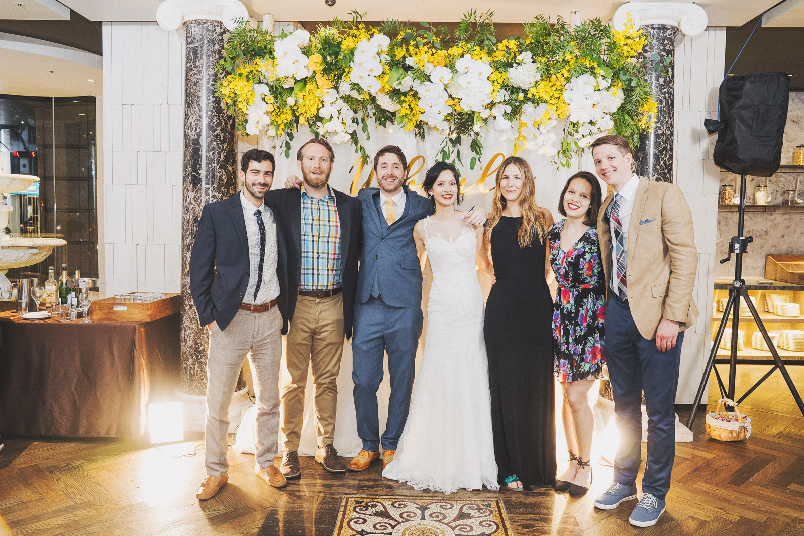 婚禮攝影全家福,美式婚禮