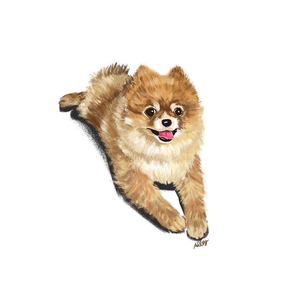 狗狗寫真,寵物插畫