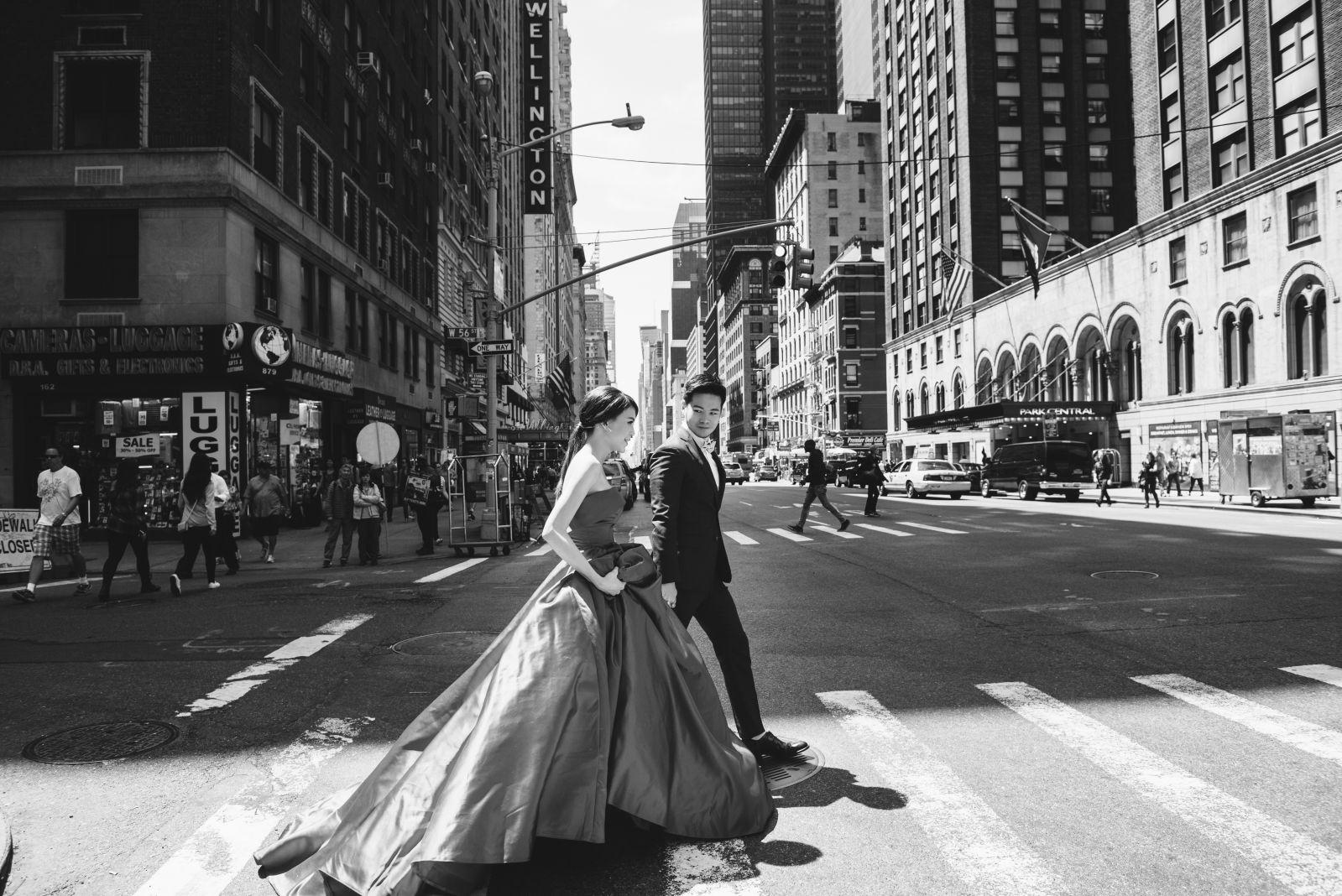 紐約街頭婚紗,Snapshot, engagement photo,海外婚紗