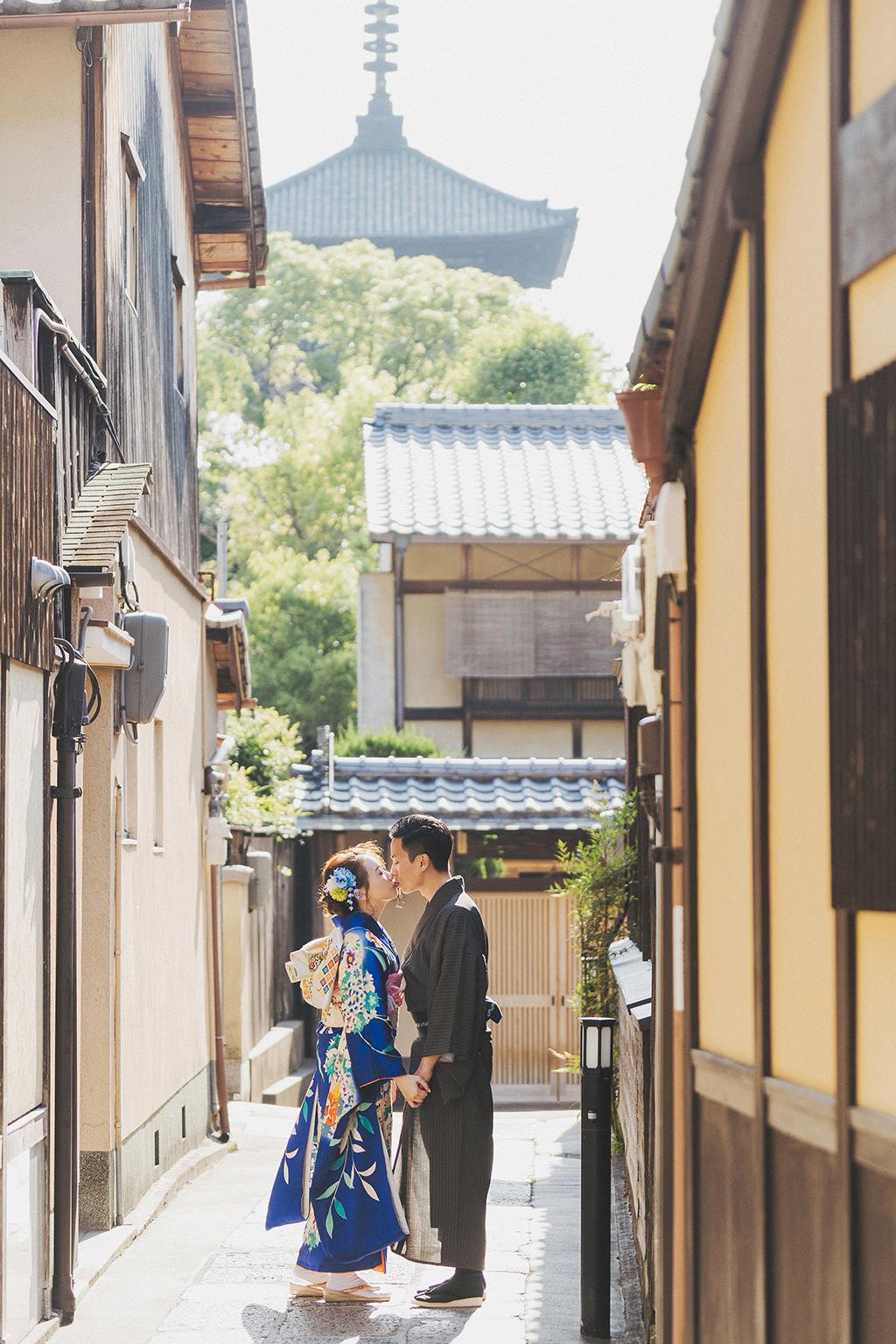 京都婚紗,京都祇園,和服婚紗,PURE,海外婚紗