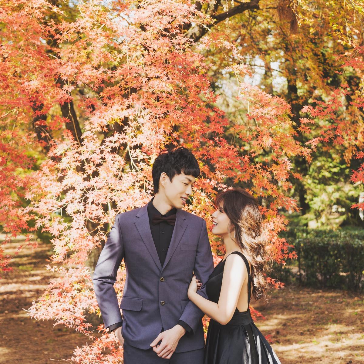 2019紅葉婚紗,海外婚紗,purefoto