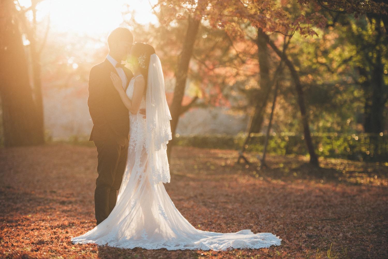 京都婚紗攝影,逆光婚紗攝影,紅葉婚紗