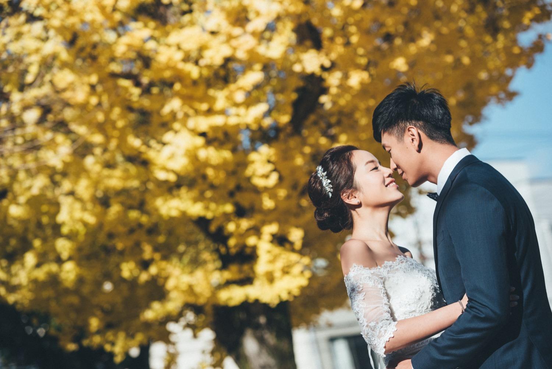 京都銀杏婚紗,紅葉婚紗,京都海外婚紗