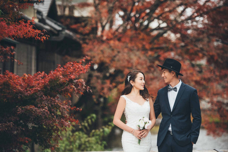 京都海外婚紗, 紅葉婚紗拍攝