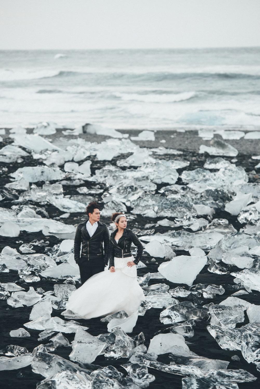 冰島鑽石沙灘,自助婚紗