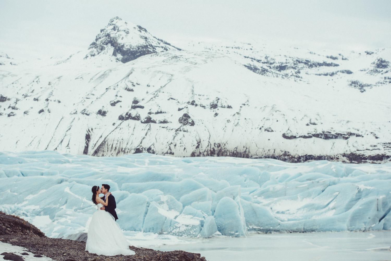 冰川婚紗,冰河湖婚紗,冰島海外婚紗
