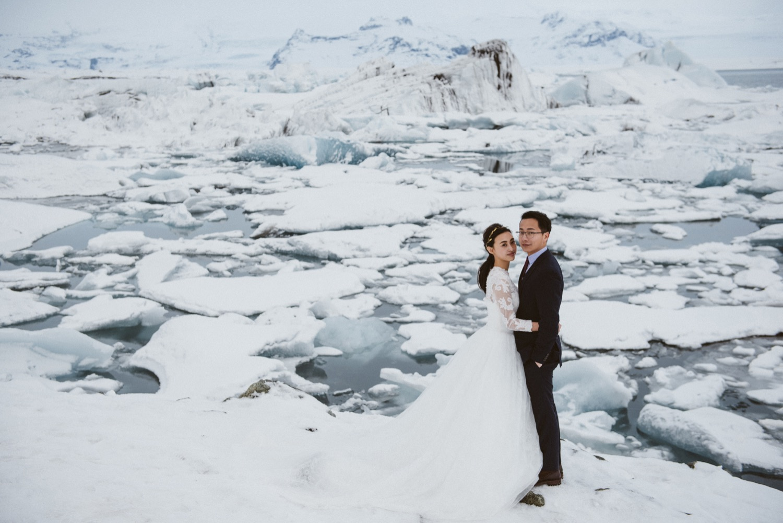 冰島海外婚紗,冰河湖婚紗攝影