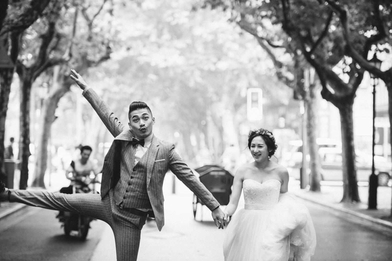 上海街景婚紗拍攝