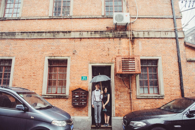 上海婚紗作品,雨中婚紗,雨天婚紗