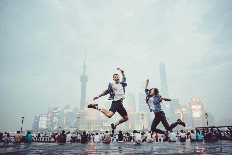 上海東方明珠,美式婚紗,上海,