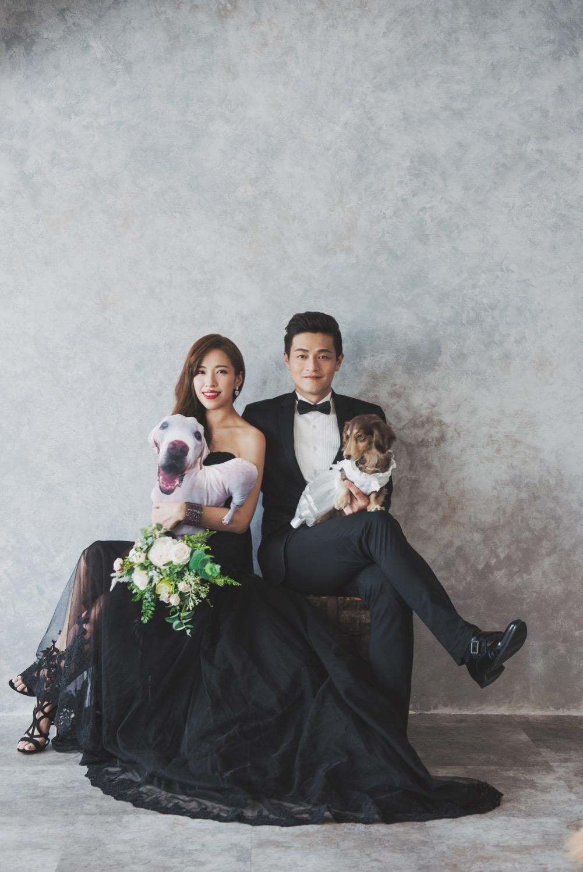 黑色婚紗,攝影棚