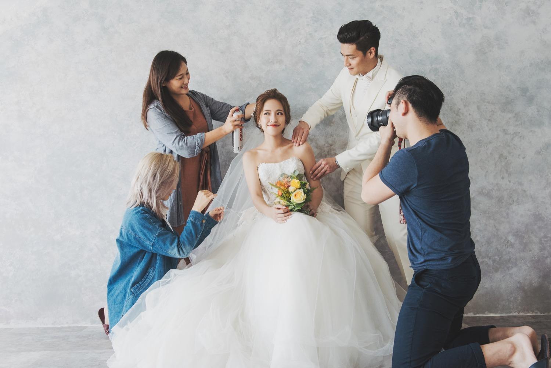 攝影棚婚紗拍攝