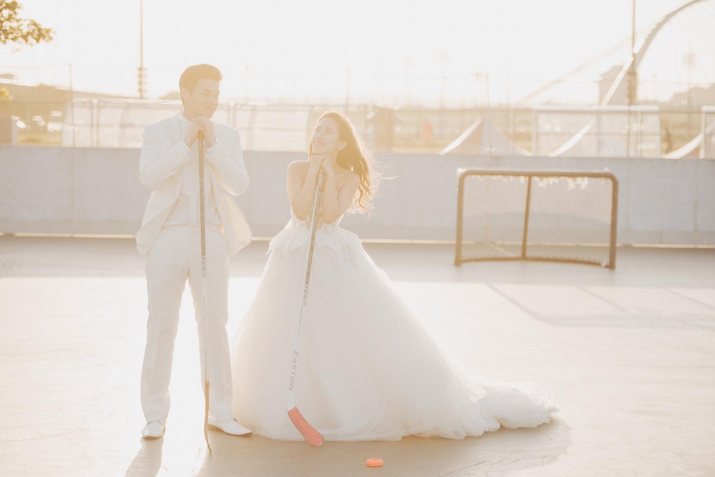 曲棍球婚紗拍攝,台北自助婚紗,婚紗攝影團隊