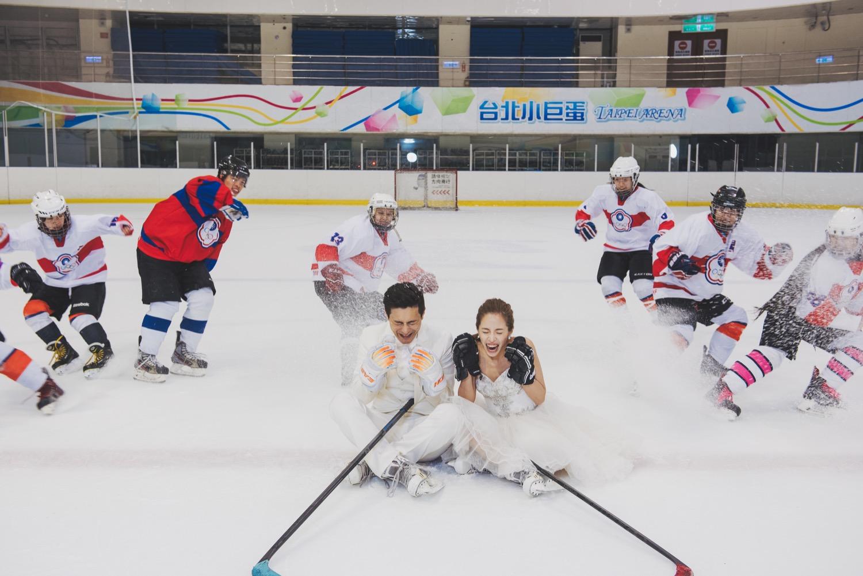 冰球婚紗拍攝,小巨蛋拍攝景點