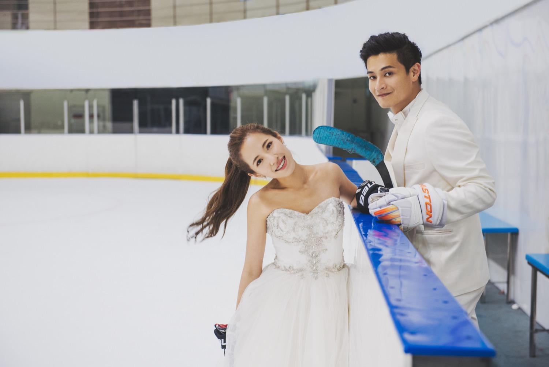 小巨蛋婚紗拍攝,溜冰場婚紗攝影
