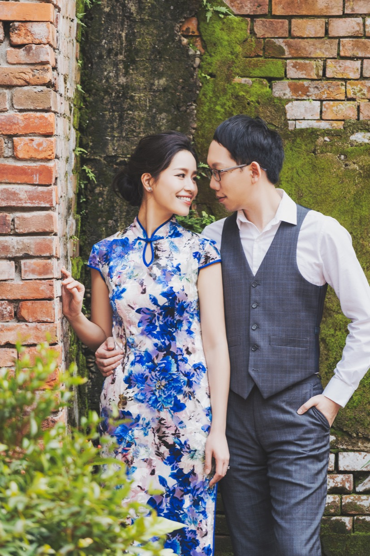旗袍則是很多海歸派的新人首選,台北地區也有許多古厝景緻,能夠完全還原台灣的復古風情。