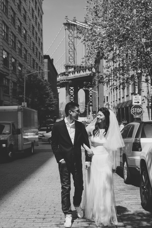紐約海外婚紗,黑白婚紗照,Dumbo