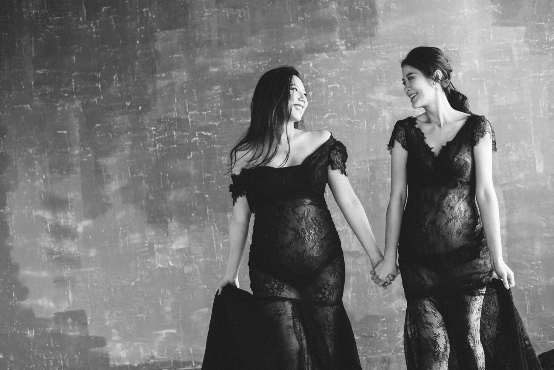 孕婦寫真,閨蜜寫真,孕婦黑白照