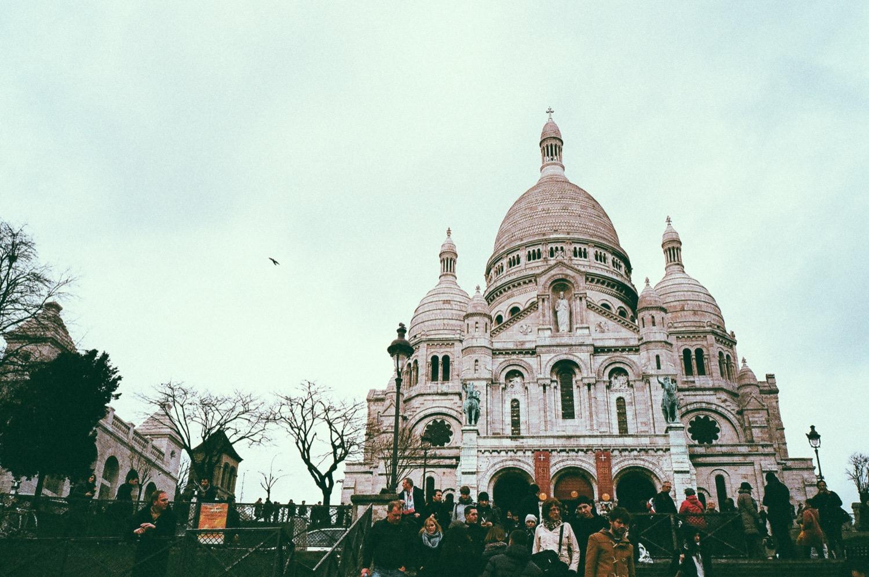 巴黎聖心堂,底片拍攝,旅遊影像,婚紗