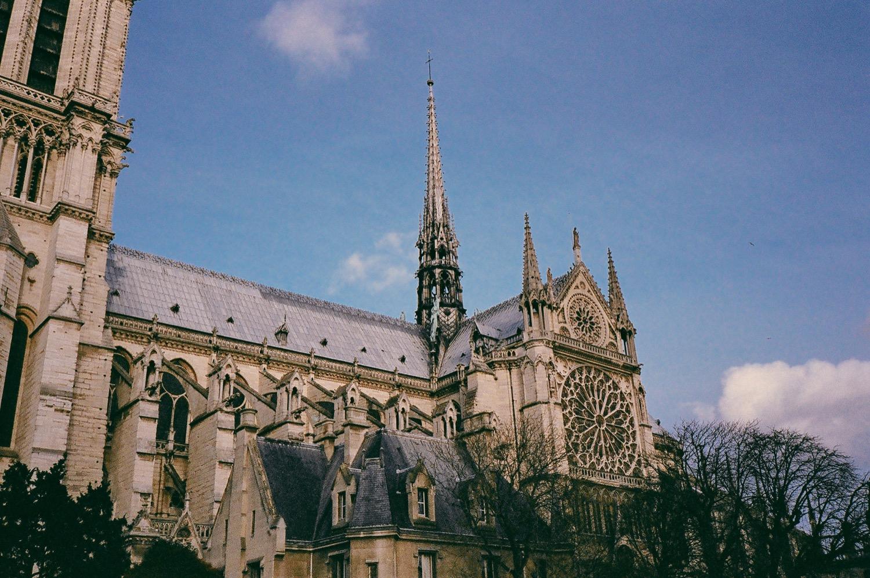 聖母院,巴黎底片攝影,不只是婚紗,旅行日記