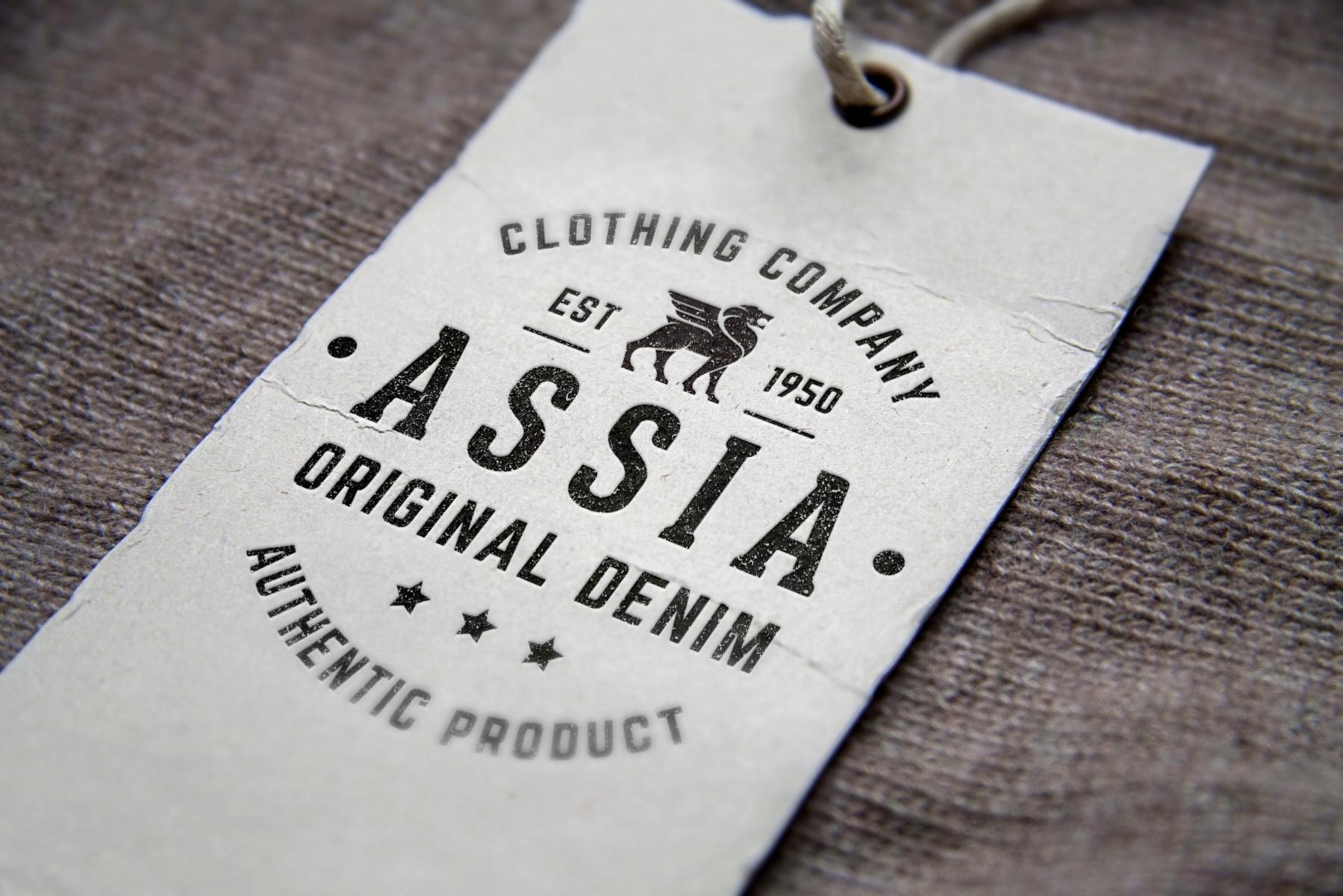 Assia Original Denim label